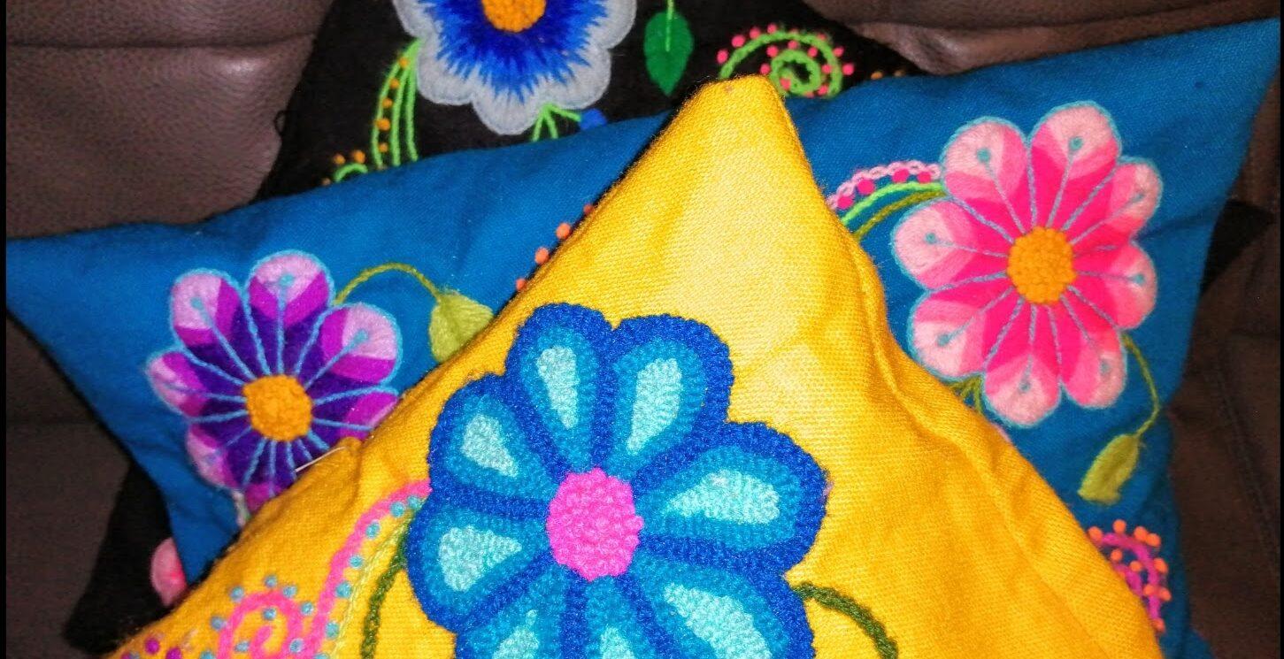 Cojines: Clase Gratis de Bordado Ayacuchano